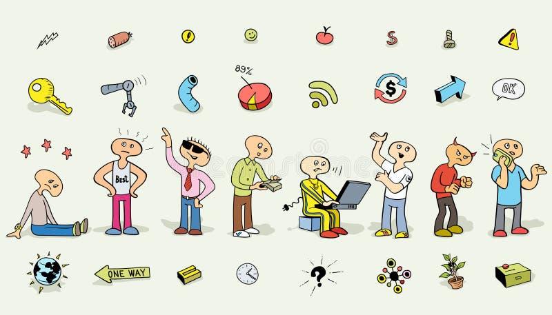 Homme drôle de vecteur : M. de ` ` De Doodly image stock