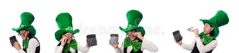 Homme dr?le dans le concept de vacances de St Patrick image libre de droits