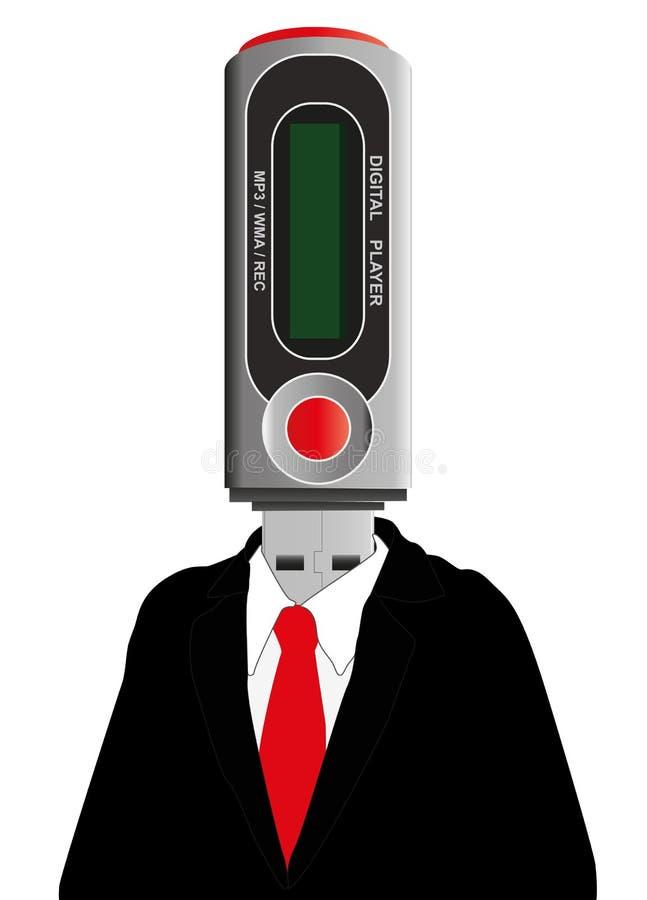 Homme du dispositif Mp3 illustration libre de droits
