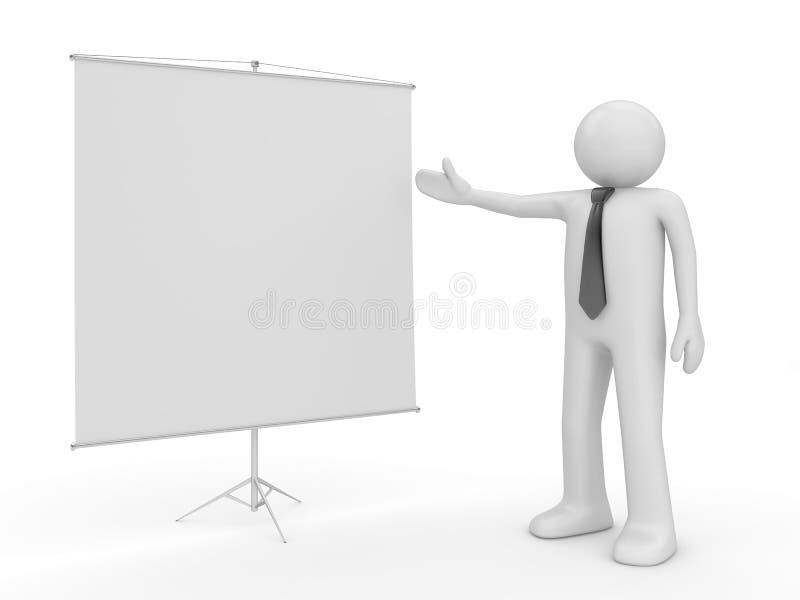 Homme effectuant le copyspace de présentation photos libres de droits