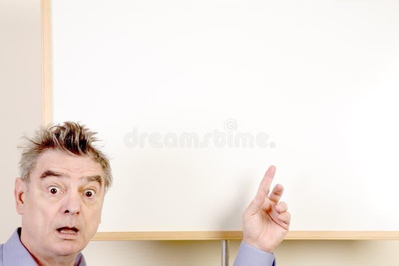 Homme effectuant une présentation images libres de droits