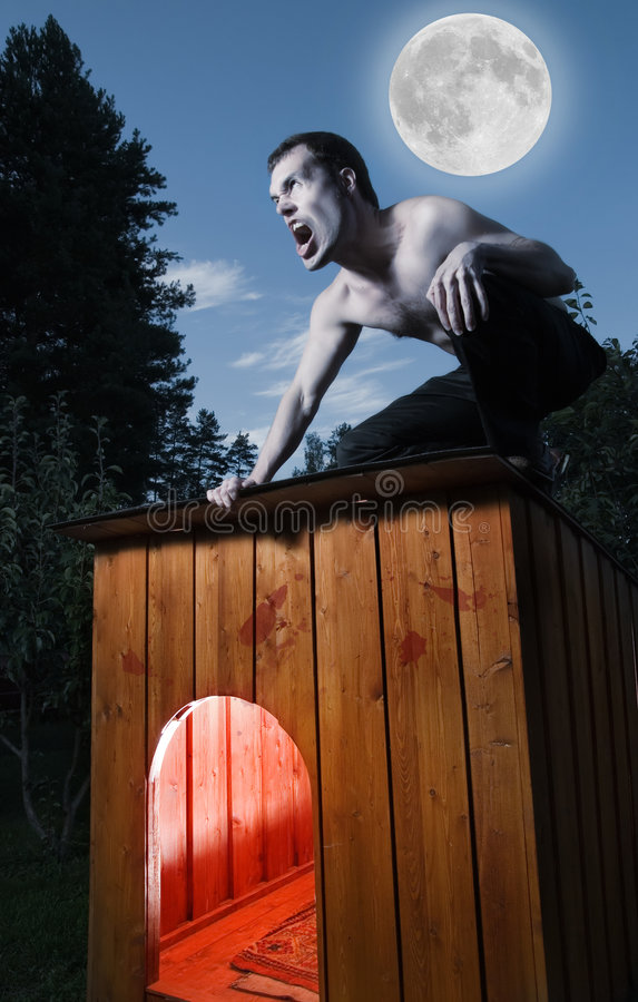 Homme effrayant image stock
