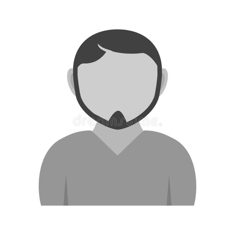 Homme en Chin Strap illustration libre de droits