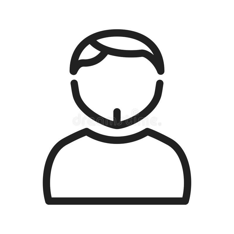Homme en Chin Strap illustration de vecteur