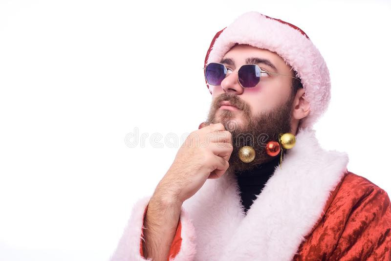 Homme en Santa Claus Costume photo stock