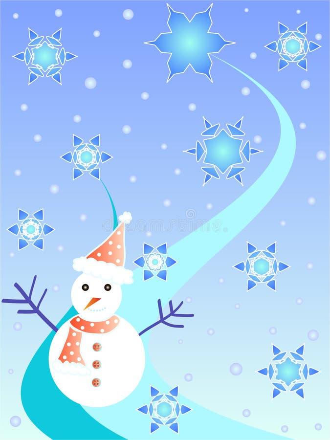 Homme et étoiles de neige illustration libre de droits