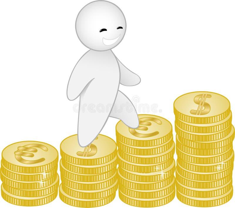 Homme et argent illustration libre de droits