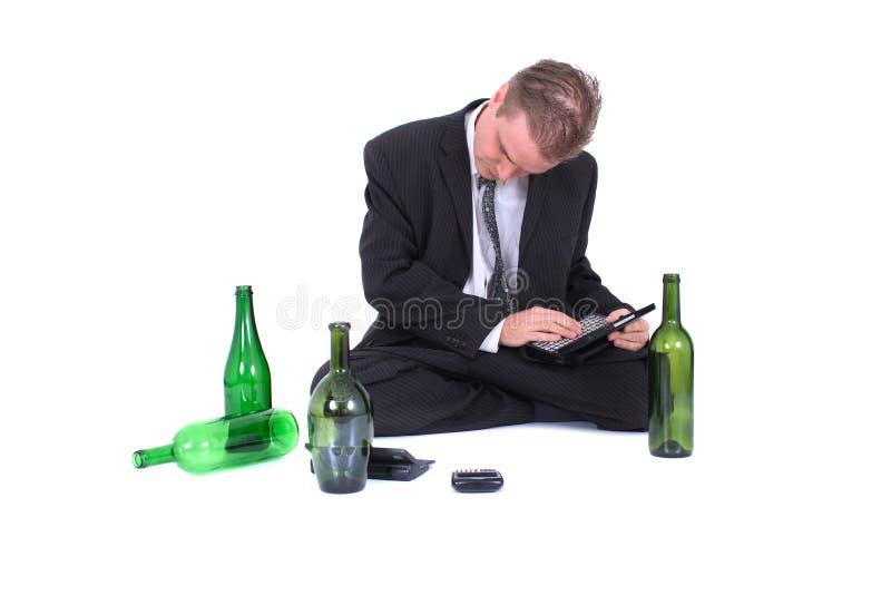 Homme et bière photos stock