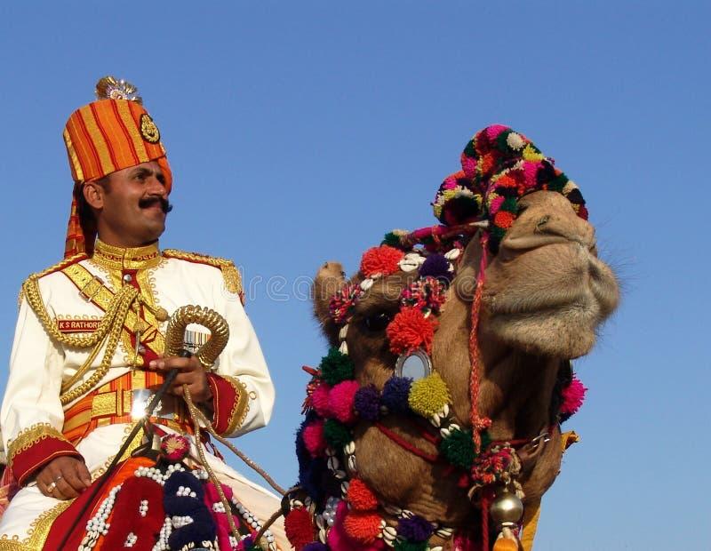 Homme et chameau photos libres de droits
