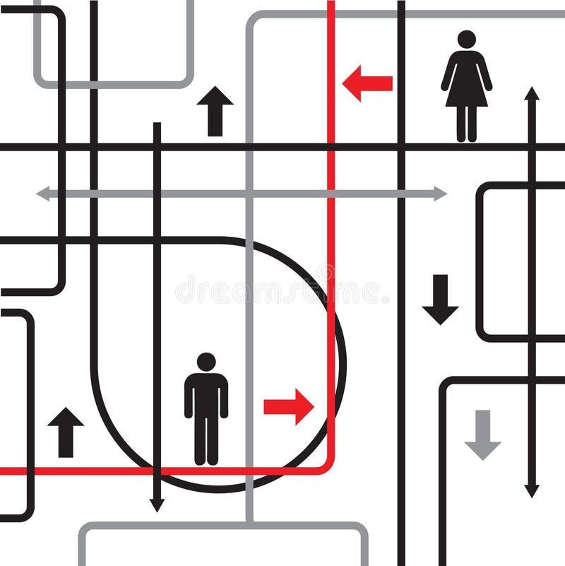 Homme et femme illustration de vecteur