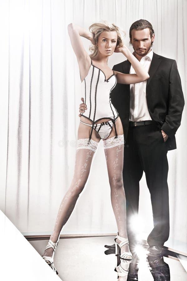 Homme et femme image stock