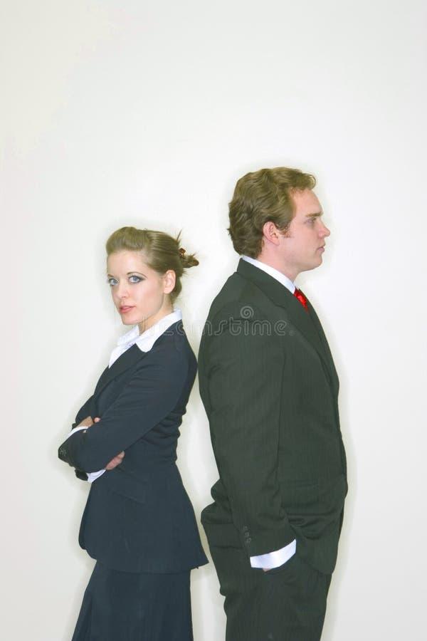 Homme et femme d'affaires images stock