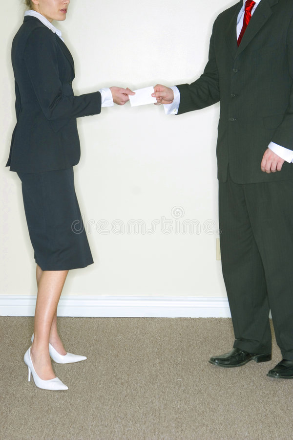 Homme et femme d'affaires photos libres de droits