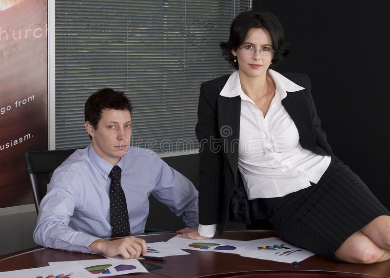 Homme et femme d'affaires photo stock