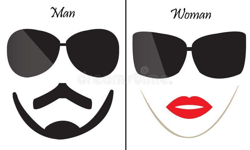 Homme et femme de symbole photographie stock