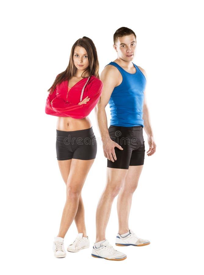 Homme et femme sportifs photographie stock