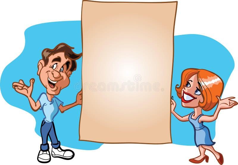 Homme et femme supportant la page photographie stock libre de droits