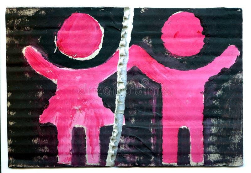 Homme et femmes illustration libre de droits