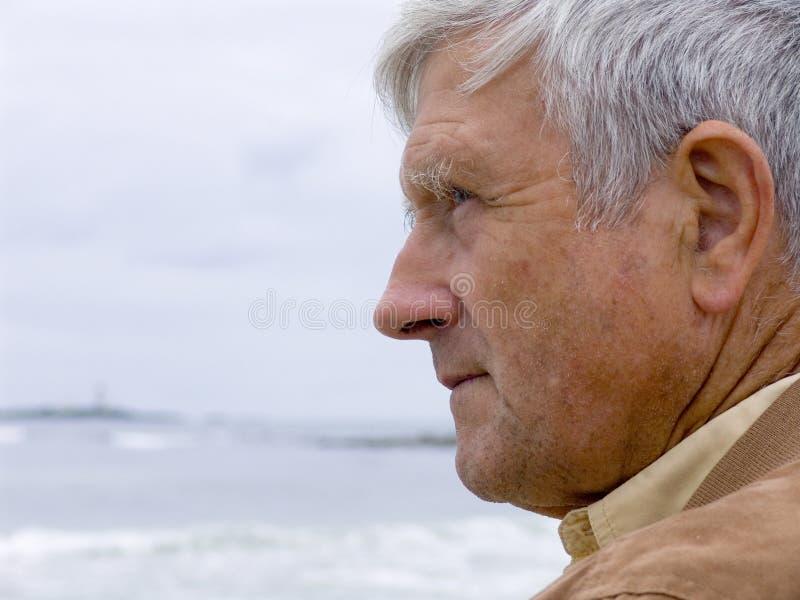 Homme et océan photographie stock libre de droits