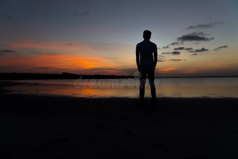 Homme et silhouette photos libres de droits