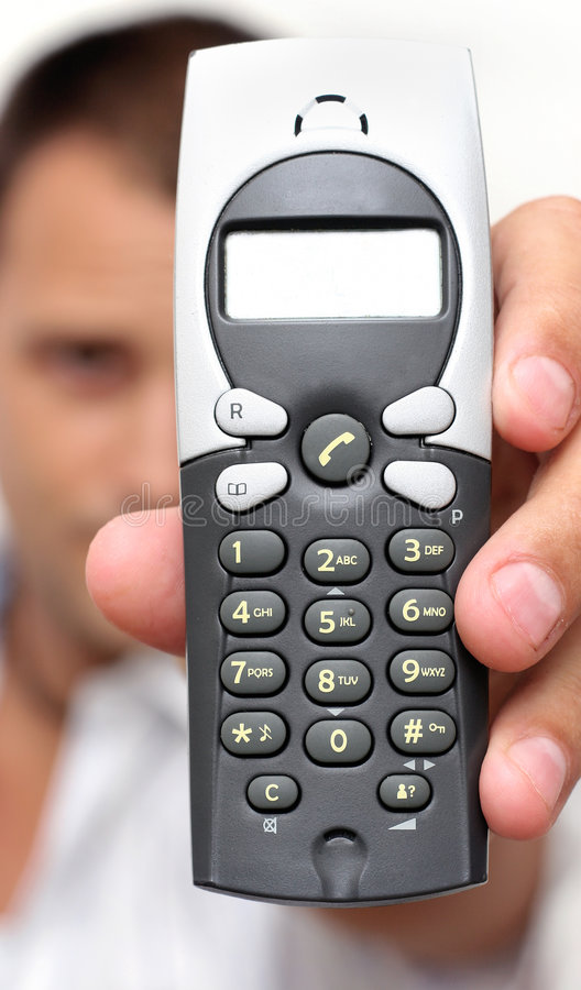 Homme et téléphone images libres de droits
