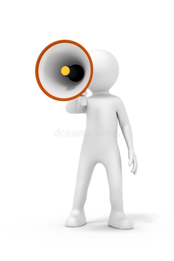 Homme et un mégaphone illustration libre de droits