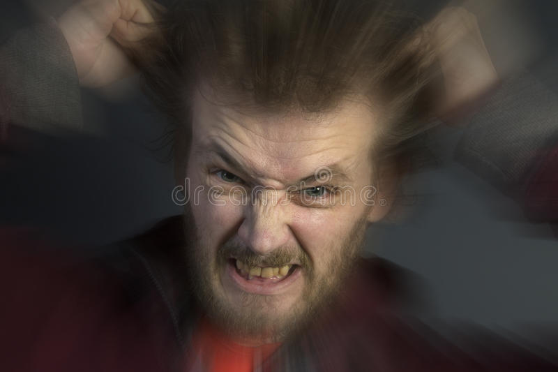 Homme fâché photo libre de droits