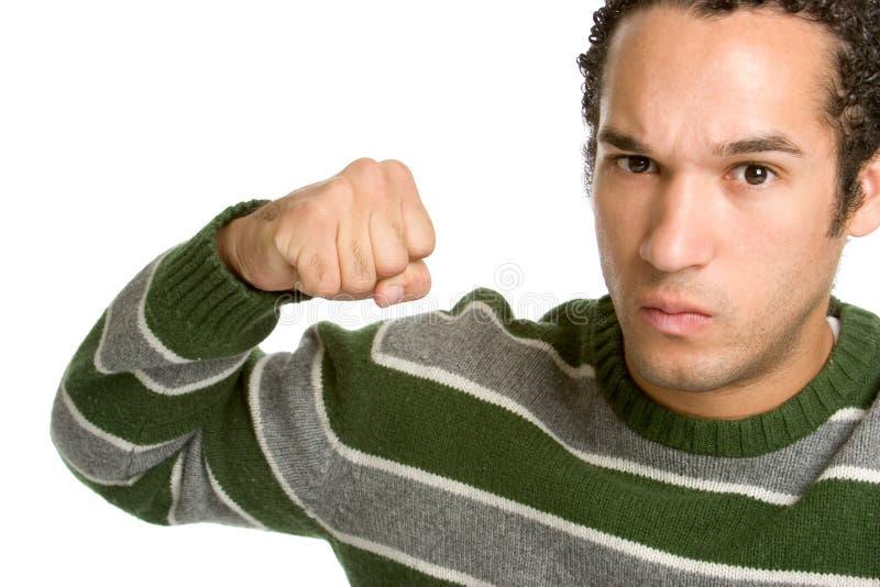 Homme fâché de combat image libre de droits
