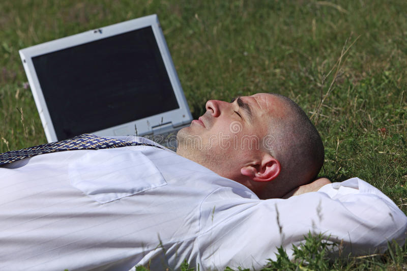 Homme fatigué photographie stock