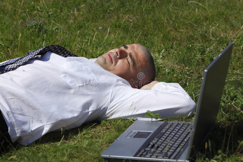 Homme fatigué photo stock