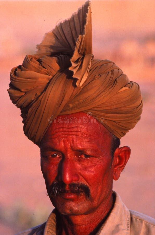 Homme fier du Ràjasthàn, Inde photo stock