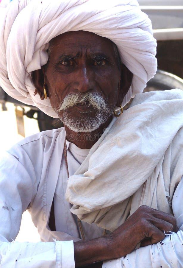 Homme fier du Ràjasthàn, Inde photographie stock