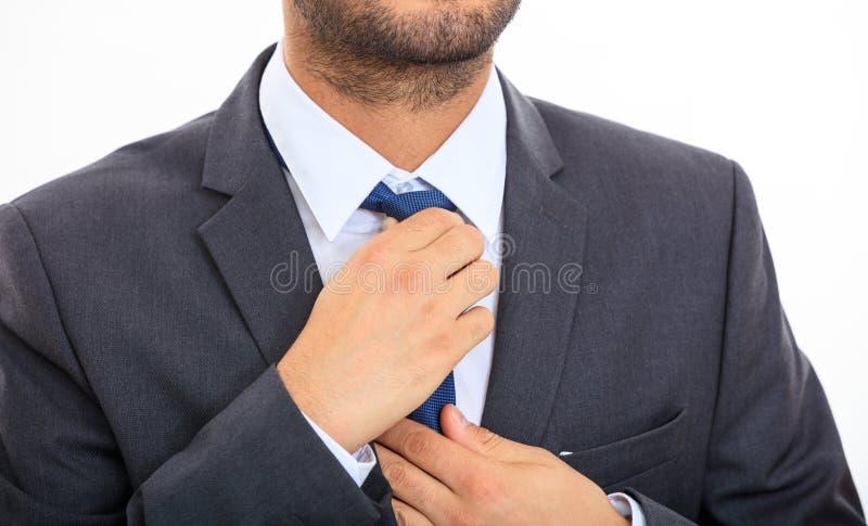 Homme fixant le sien relation étroite photo stock