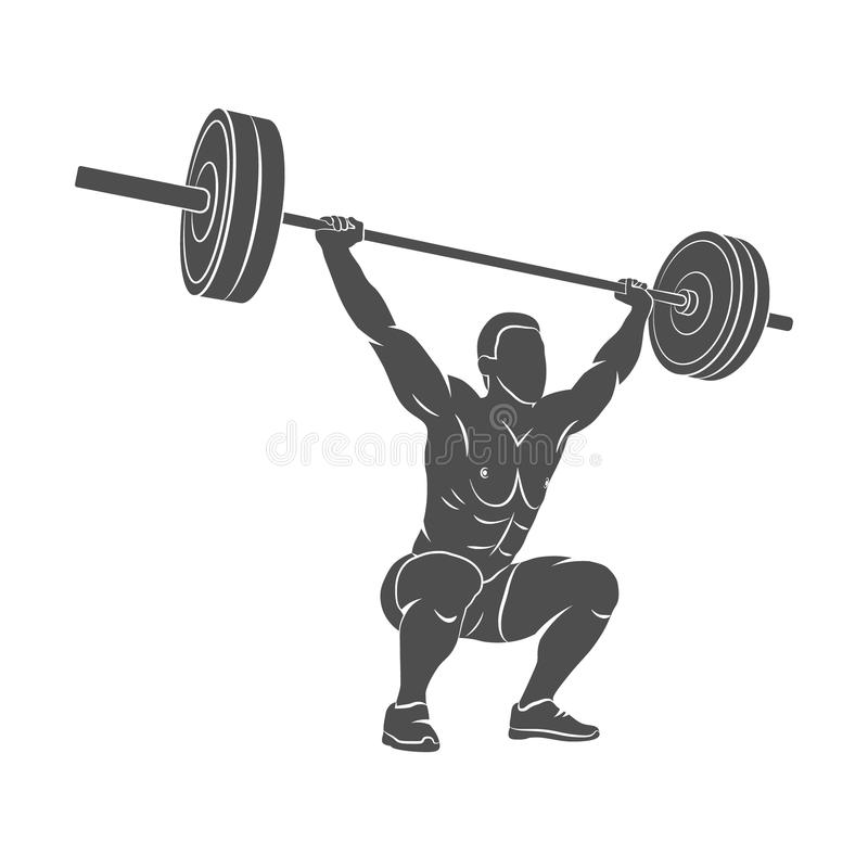 Homme fort powerlifting photos stock