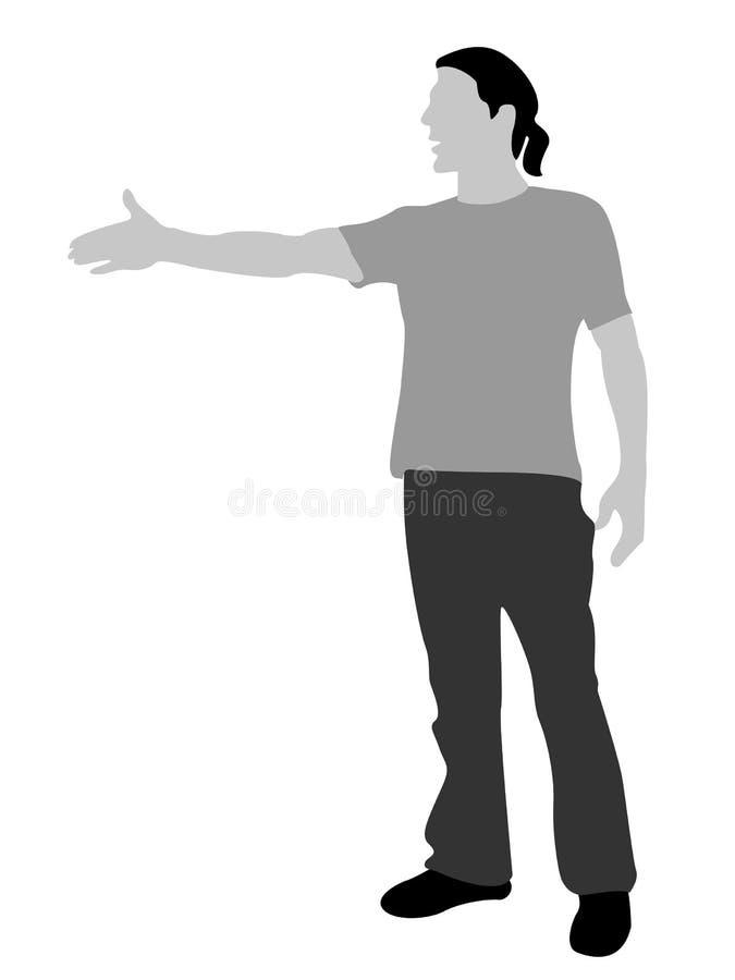 Homme frais debout illustration stock
