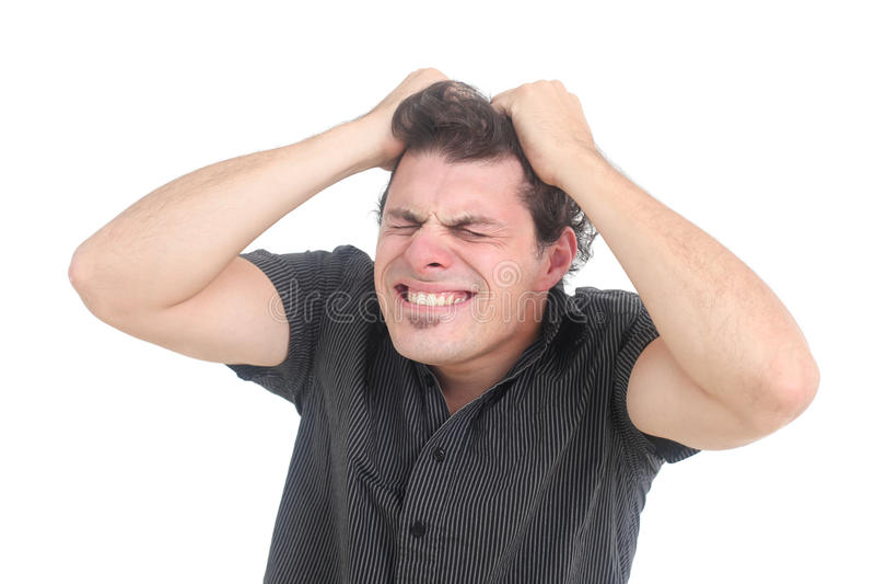 Homme frustrant photos stock