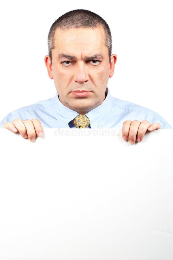 Homme furieux d'affaires photo libre de droits