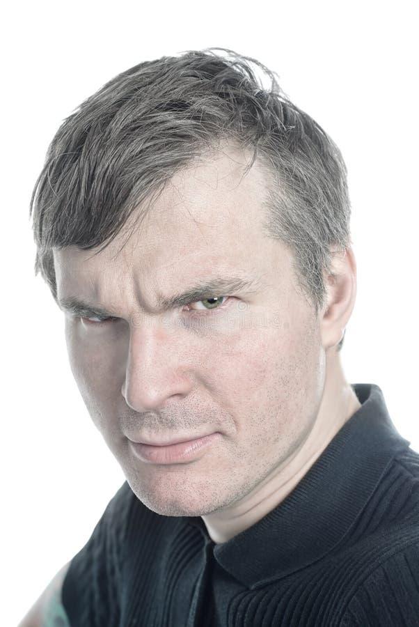Homme Gray-haired photographie stock libre de droits