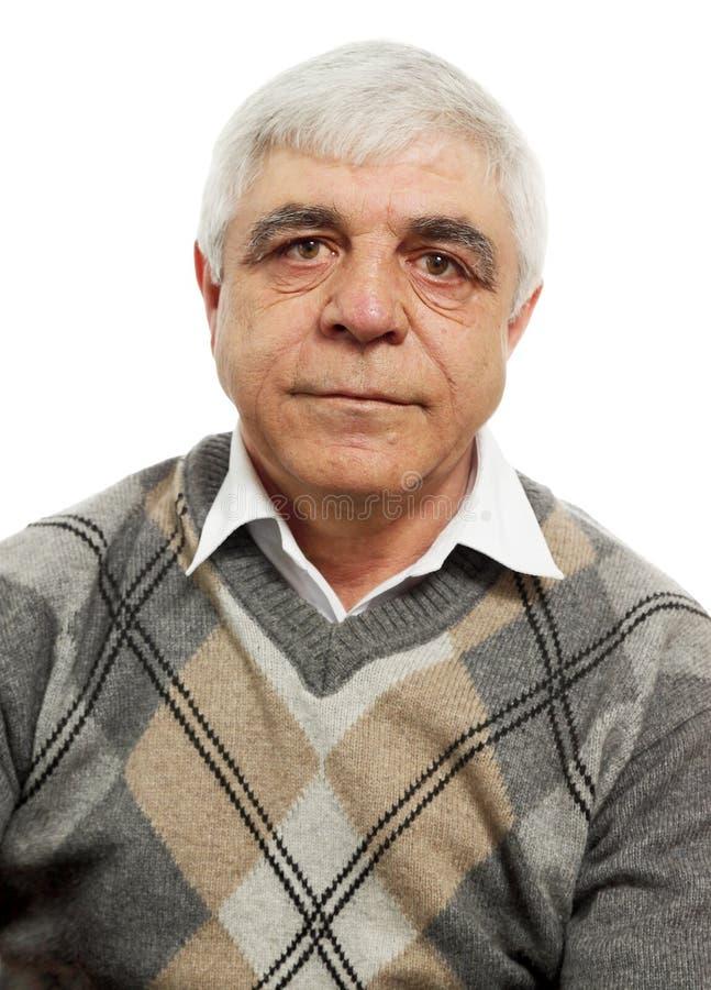 Homme Gray-haired photo libre de droits