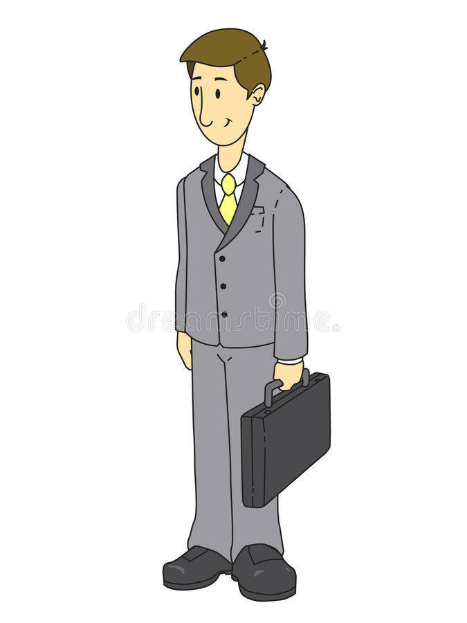 Homme gris d'affaires de procès illustration stock