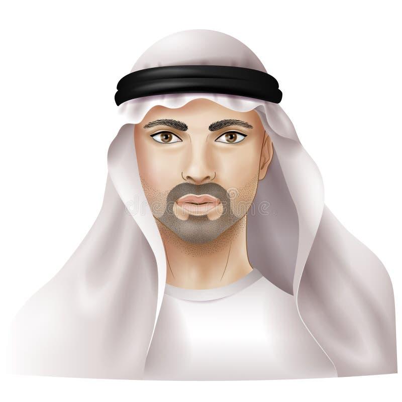 Homme habillé dans le keffiyeh illustration stock