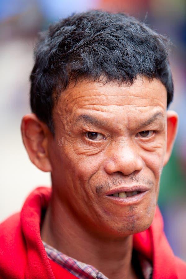 Homme handicapé photo stock