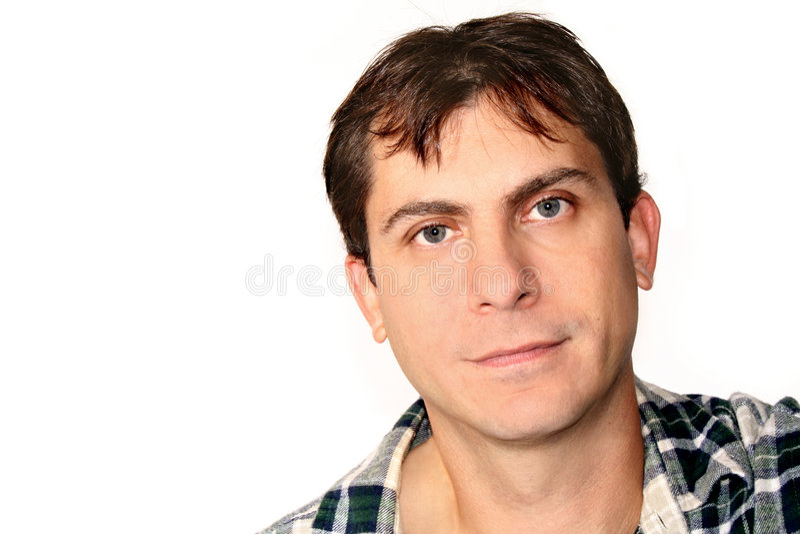 Homme Headshot photographie stock