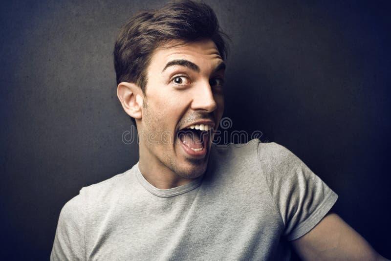 Homme heureux photo libre de droits