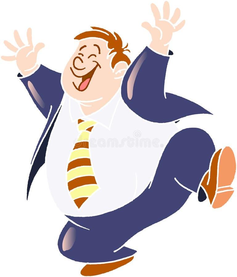 Homme heureux illustration stock