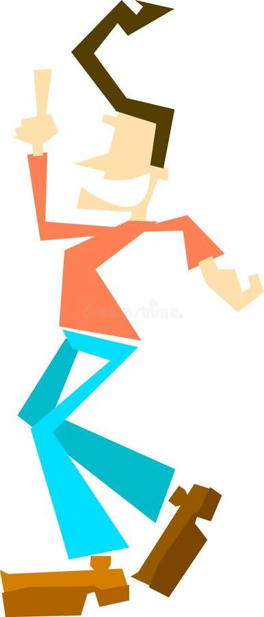 Download Homme heureux illustration stock. Illustration du heureux - 91772