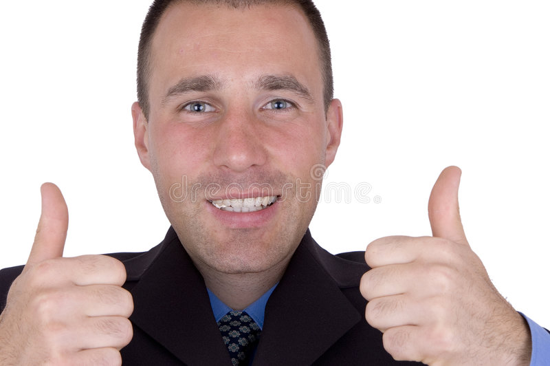 Homme heureux d'affaires image libre de droits