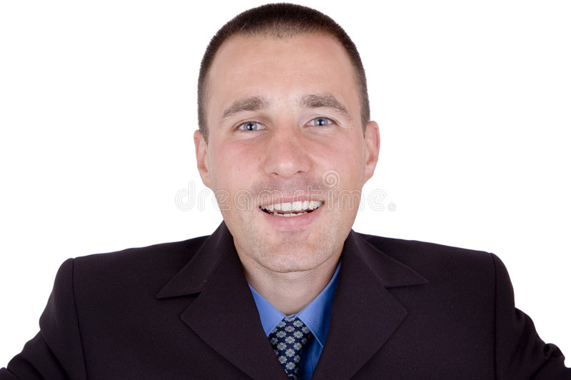 Homme heureux d'affaires photo stock