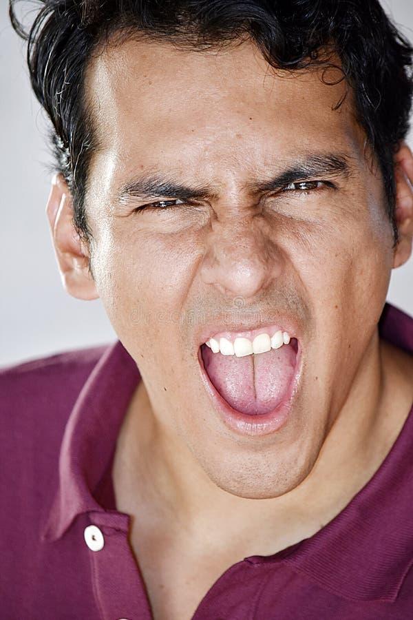 Homme hispanique soumis à une contrainte photo libre de droits