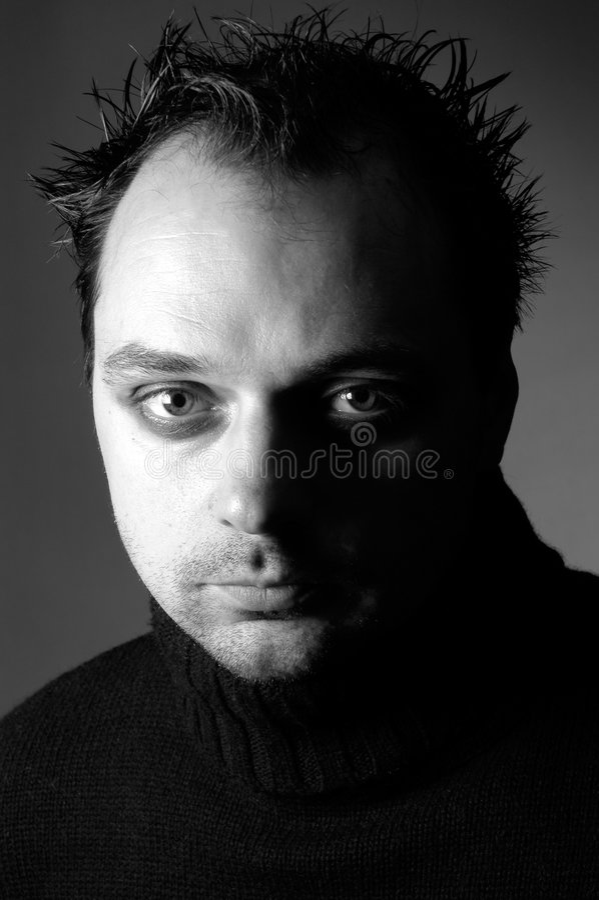 Homme : II sérieux photos stock
